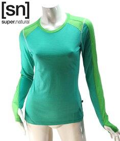 【sn】super.natural スーパーナチュラル レディース W NERGY TOP LS 140 / 長袖Tシャツ W003020-336