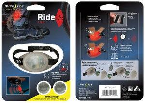 【即納♪】ライドリット レッド 【NITE IZE/ナイトアイズ】 自転車用LEDライト【LEDライト/点滅/点灯/自転車/アクセサリー/ライト/セーフティ/マーカー/足首/バンド】