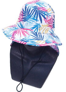 OP(OCEAN PACIFIC) オーシャンパシフィック 子供 キッズ 男の子 女の子 サーフハット(サンシェード付き) 569913 帽子 マリンハット 水着 紫外線防止 夏用 海水浴 水泳 UVカット 日焼け防止 学校 体育
