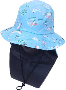 OP(OCEAN PACIFIC) オーシャンパシフィック 子供 キッズ 男の子 女の子 サーフハット(サンシェード付き) 569928 帽子 マリンハット 水着 紫外線防止 夏用 海水浴 水泳 UVカット 日焼け防止 学校 体育