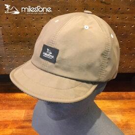 milestone(マイルストーン) original cap MSC-009 Beige メンズ・レディース タウン・アウトドアキャップ 【トレイルランニング/ジョギング/帽子/キャップ/トレラン】