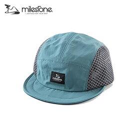 milestone(マイルストーン) original cap MSC-010 Blue×Gray メンズ・レディース メッシュキャップ 【トレイルランニング/ジョギング/帽子/キャップ/トレラン】