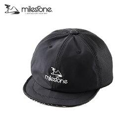 milestone(マイルストーン) original cap MSC-011 Black×Black メンズ・レディース メッシュキャップ 【トレイルランニング/ジョギング/帽子/キャップ/トレラン】