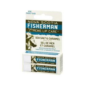 Nova Scotia Fisherman(ノバスコシア・フィッシャーマン) LIP BALM リップバーム -シーソルト&キャラメル(ダブルパック) 自然由来成分のプレミアムなリップバーム 【スキンケア/クリーム/アウトドア/携帯/オーガニック】