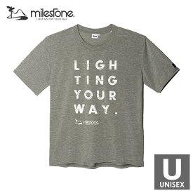 milestone(マイルストーン) Original T-shirts メンズ・レディース ドライ半袖Tシャツ 【トレイルランニング/ジョギング/アウトドア/ウェア/ショートスリーブ】