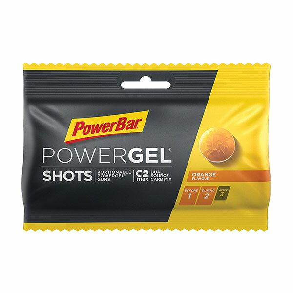 PowerBar パワーバー PowerGel Shots パワージェル・ショッツ オレンジ グミ5粒でパワージェル1本分のエネルギー 補給食 行動食 トレイルランニング