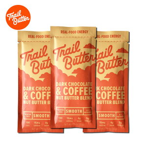 Trail Butter(トレイルバター) ダークチョコレート&コーヒー / 1.15oz オールナチュラル・グルテンフリーの体に優しい補給食 【非常食/備蓄食糧/保存食/防災グッズ/栄養補給食品】