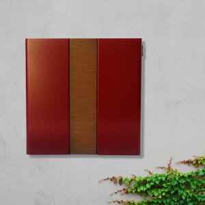 ポスト 郵便受け 木目 シンプルモダンポスト 「凛-RIN-」 鍵 レバーに変更可能 和風 ポスト 壁付け 壁掛け
