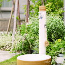 水栓柱 立水栓 ナチュラルなデザイン「アルブラン (水栓柱+ガーデンパン+蛇口2個セット)」【送料無料】お庭をスタイルを選ばないシンプルなカタチです
