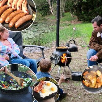 """Ozpig International澳大利亚猪国际本体安排""柴取暖炉手提式野外烹调系统户外露营BBQ烤肉"