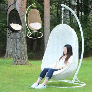 【ハンギングチェアー】【人工ラタン家具】「リラックスハンギングチェア 楕円」