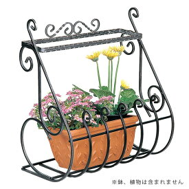 ウィンドウボックス ウィンドウボックスホルダー プランターボックス アイアン 壁掛け アイアン製のウィンドウボックス・フラワーボックス 「ハイビ社 (HEIBI社)フラワーバルコニーC 」花かご型