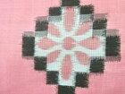 幾何学に花模様織り出し銘仙着物【アンティーク】【中古】【着】 宗sou