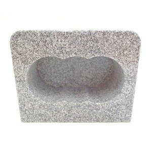 【墓石】【お墓参り】【香炉】【ステンレス香皿】 香炉 角型 「白御影石」