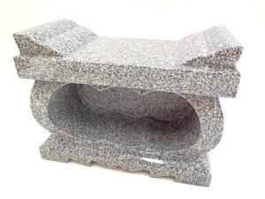 【墓石】【お墓参り】【香炉】【ステンレス香皿】 香炉 高級経机型 「白御影石」