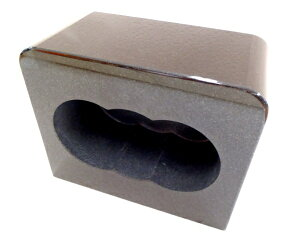 【墓石】【お墓参り】【香炉】【ステンレス香皿】 香炉 角型 「黒御影石」