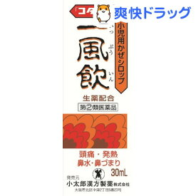 【第(2)類医薬品】小児用かぜシロップ一風飲「コタロー」(30ml)【コタローの漢方薬】