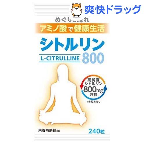 シトルリン800(240粒)【ウェルネスジャパン】
