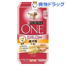 ピュリナワン ドッグ ほぐし粒入り 1〜6歳 成犬用 チキン(4.2kg)【d_one】【d_one_dog】【ピュリナワン(PURINA ONE)】