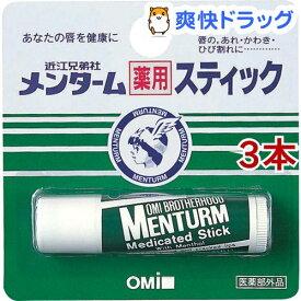 メンターム 薬用スティック レギュラー(4g*3コセット)【メンターム】[リップクリーム]