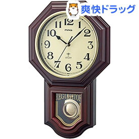電波振り子時計 鹿鳴館DX W-640 BR(1台)