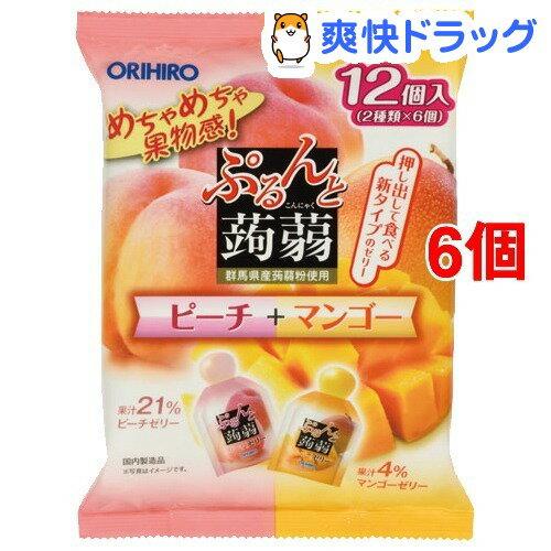 ぷるんと蒟蒻ゼリー パウチ ピーチ+マンゴー(20g*12コ入*6セット)【ぷるんと蒟蒻ゼリー】