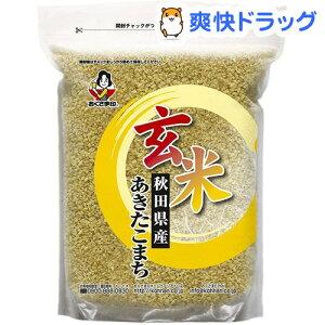 令和元年産 玄米 あきたこまち(国産)(2kg)【おくさま印】