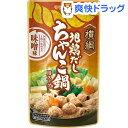 横綱 地鶏だしちゃんこ鍋用スープ 味噌味(750g)