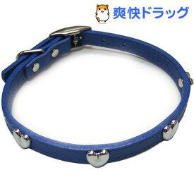 ダブルレザーカラーハート 青 Mサイズ(1コ入)