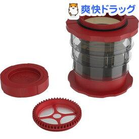 カフラーノ コンパクト フレンチプレスコーヒーメーカー レッド P100-RD(1台)