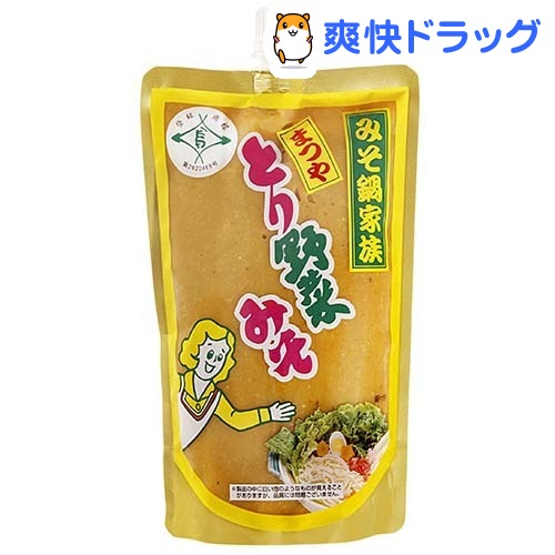 【訳あり】まつや とり野菜みそ スパウトパック(500g)