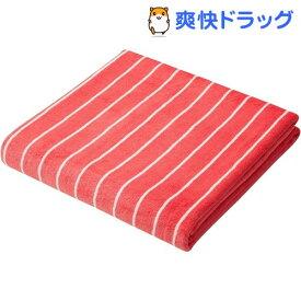 カラリクオ バスタオル ストライプ レッド*ホワイト(1枚入)【カラリ(carari)】
