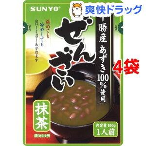 サンヨー 抹茶ぜんざい(160g*4袋セット)