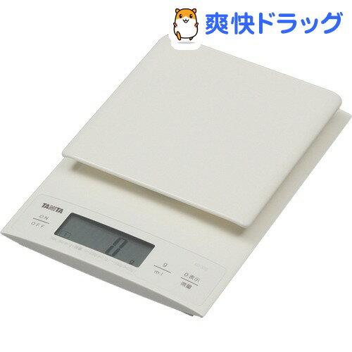 タニタデジタルクッキングスケールホワイトKD-320-WH