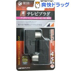 テレビプラグ 屋内用 4K8K対応 高シールド型 4C・5C兼用 黒 FP7EB2-SP(2コ入)