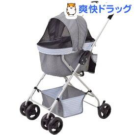 わんわんカート スーパーライト ボーダーグレー(1台)【わんわんカート】