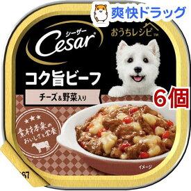 シーザー おうちレシピ コク旨ビーフ チーズ&野菜入り(100g*6個セット)【シーザー(ドッグフード)(Cesar)】