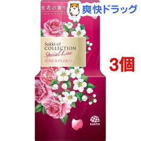 お部屋のスッキーリ! Sukki-ri! 消臭芳香剤 コレクション ローズ&フローラルの香り(400ml*3個セット)【スッキーリ!(sukki-ri!)】