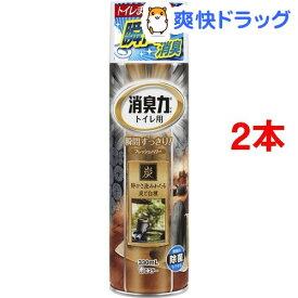トイレの消臭力スプレー 消臭芳香剤 トイレ用 炭と白檀の香り(330mL*2コセット)【消臭力】