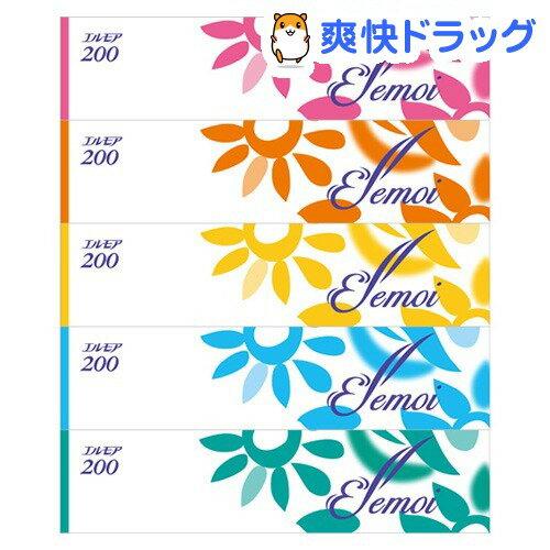 エルモア ティシュー 400枚(200組)(5箱)【エルモア】