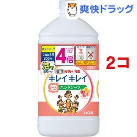 キレイキレイ 薬用泡ハンドソープ フルーツミックスの香り 詰替用(800mL*2コセット)【キレイキレイ】