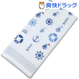 今治産 布ごよみ フェイスタオル マリン ブルー 35008(1枚入)