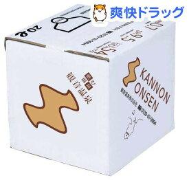 飲む温泉 観音温泉 バッグインボックス(20L)[水]