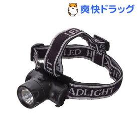 0.5WスーパーLEDコンパクト防雨ヘッドライト ブラック LZ41BK(1コ入)