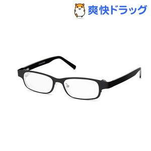 アイジャスターズ 度数可変シニアグラス オックスブリッジ ブラック EYJOXB-BK-S(1個)