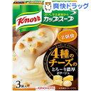 クノール カップスープ 4種のチーズのとろ〜り濃厚ポタージュ(3袋入)【クノール】