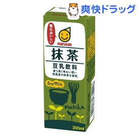 マルサン 豆乳飲料 抹茶(200ml*12本入)【マルサン】