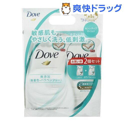 【企画品】ダヴ ボディウォッシュ センシティブマイルド つめかえ用ペア(360g+360g)【ダヴ(Dove)】
