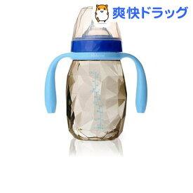 キッズミー ダイヤモンドボトル ハンドル付 アクアマリン 240ml(1個)[お食事グッズ ベビー食器]