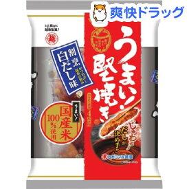 うまい!堅焼き 割烹白だし味(96g)【越後製菓】